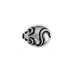 METALIZED BEAD w/SS.COATING 11mm Mouse Antique Silver image