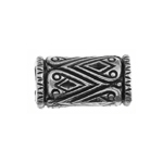 METALIZED BEAD w/SS.COATING 15x8mm Tube Antique Silver image