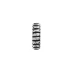 METALIZED BEAD w/SS.COATING 10x3mm Ripple AntiqueSilver image