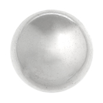 METALIZED BEAD w/SS.COATING 25mm Round Silver image