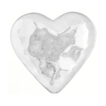METALIZED BEAD w/SS.COATING 28mm Flat Heart Silver image