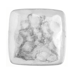 METALIZED BEAD w/SS.COATING 25mm Flat Square Silver image
