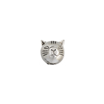 METALIZED BEAD CAT 8x9MM ANTIQUE SILVER LF/NF image