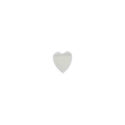 "SHELL BEADS MOP 5x6mm FLAT HEART 16"" STRAND WHITE image"