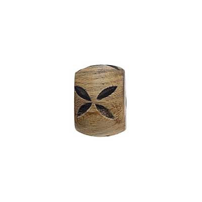 HORN BEADS WATER BUFFALO 12x15mm BARREL BURNT image