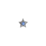 Czech R/S Bead 6.5mm LF/NF Star Silver/ Black/Light Sapphire image