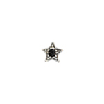 Czech R/S Bead 6.5mm LF/NF Star Silver/Black/ Black Diamond image