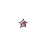 Czech R/S Bead 6.5mm LF/NF Star Silver/Black/Rose image