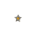 Czech R/S Bead 6.5mm LF/NF Star Silver/Black/Topaz image