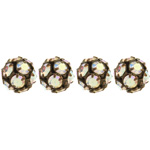 Czech Rhinestone Beads 8mm Crystal AB/Antique Copper image