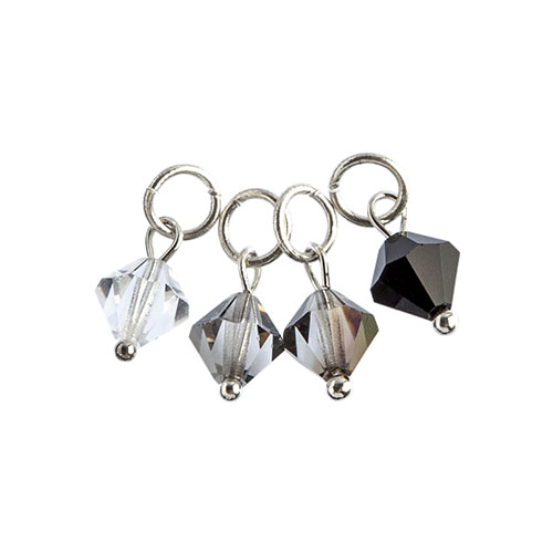 Czech Bicone Charms 8mm (4pcs) Midnight Elegance image