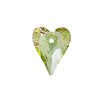 Swarovski Pendant 6240 Wild Heart 17mm Luminous Green Crystal 6pcs image