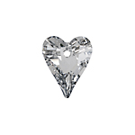 Swarovski Pendant 6240 WildHeart 17mm Comet Argent Light V Crystal P 72pcs image