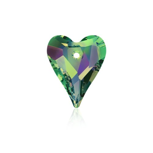 Swarovski Pendant 6240 Wild Heart 17mm Vitrail P Medium Crystal 12pcs image