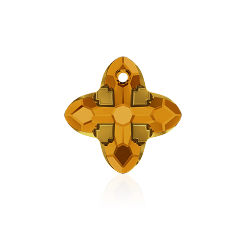 Swarovski Pendant 6868 Cross Tribe 24mm Topaz Dorado 1pc image