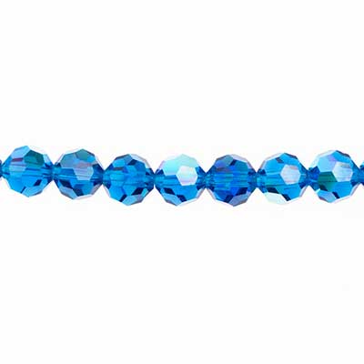 Preciosa MC Bead Reg.Cut 19-602 Round 5mm Capri Blue AB 32pcs image
