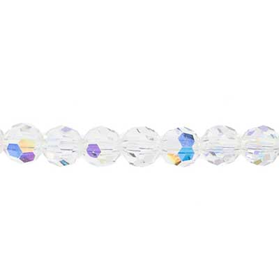 Preciosa MC Bead Reg.Cut 19-602 Round 8mm Crystal AB 36pcs image