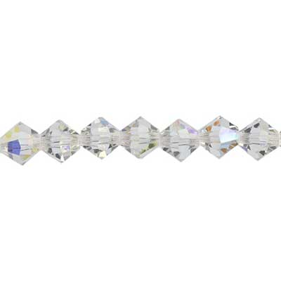 Preciosa 5in Strand Rondell 4mm 31pcs Crystal AB image