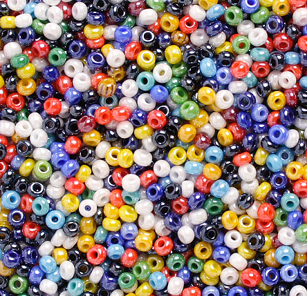 SEEDBEADS 10/0 OPAQUE LUSTERED MULTI image