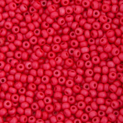 Ponybead 6/0 Raspberry Terra Dyed Chalk Matt Lustered image