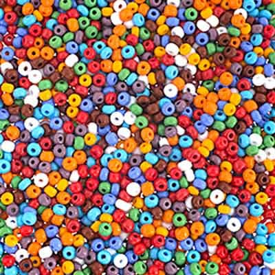 Czech Seed beads 3/0 Opaque Multi Mix image