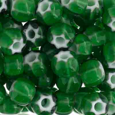 Czech Seed Beads 32/0 Cornelian White Star Green image