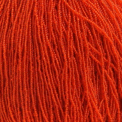 SEEDBEAD TR. ORANGE 11/0 STRUNG image