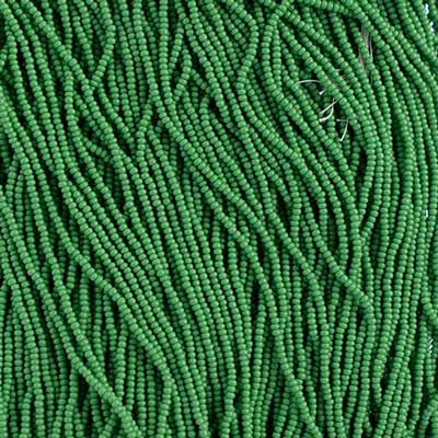 Seedbead 12/0 Strung Opaque Medium Green image
