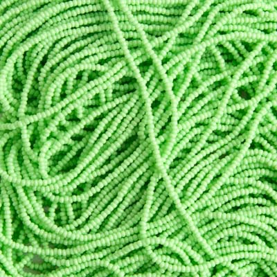 Seedbead 12/0 Strung Opaque Pale Green image
