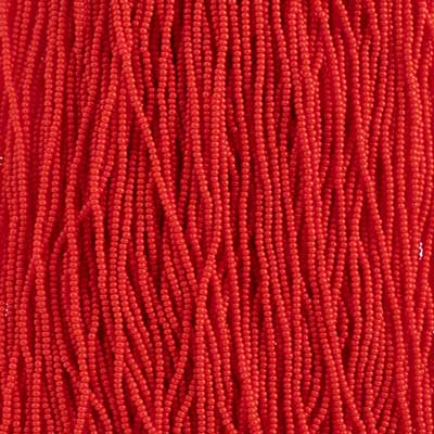Seedbead 12/0 Strung Opaque Light Red image