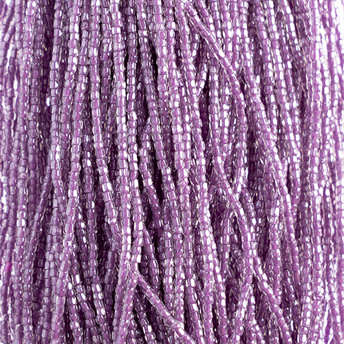 3 CUT BEAD CRYSTAL/PURPLE 10/0 STRUNG image