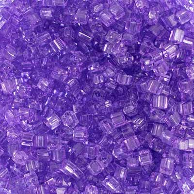 SQUARE BEADS 2.6x2.6mm PURPLE SHINY SOLGEL SQ. HOLE image