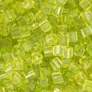 SQUARE BEADS 2.6x2.6mm OLIVEGREEN SHINY SOLGEL SQ.HOL image