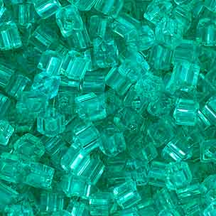 SQUARE BEADS 2.6x2.6mm EMERALD SHINY SOLGEL SQ. HOLE image