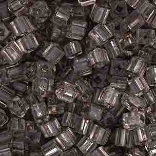 SQUARE BEADS 2.6x2.6mm GREY SHINY SOLGEL SQUARE HOLE image