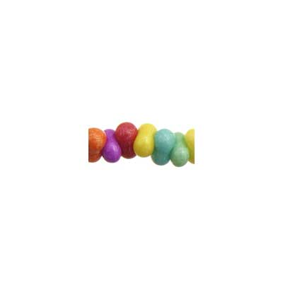 BOW BEADS (FARFALLE) 3.2x6.5mm STRUNG MULTI DYED image
