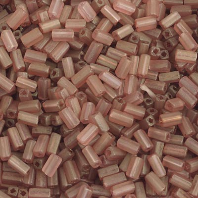 RECTANGLE BEADS 5x2.6mm SQUARE HOLE PINK LUSTRE MATT image