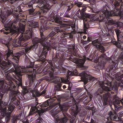 TWISTED RECTANGLE BEAD 5x2.6mm SQ.HOLE PURPLE LUSTRE image