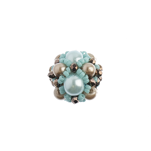 Beaded Focal Beads - Turquoise 3pcs image