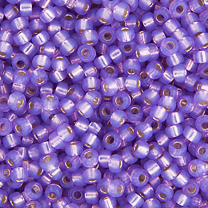 Miyuki Seed Bead 6/0 apx.22g Lilac S/L Opal Dyed Alabaster image