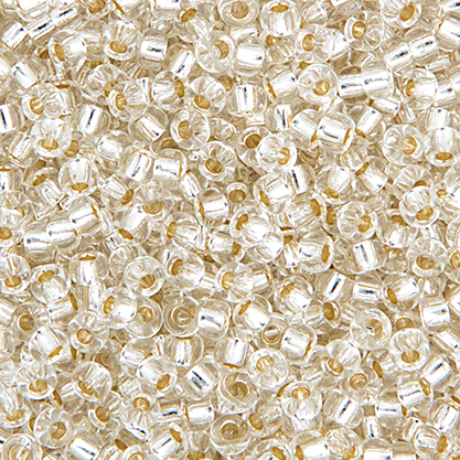Miyuki Seed Bead 8/0 apx.22g Crystal Silver Lined image