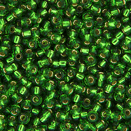 Miyuki Seed Bead 8/0 apx.22g Green Silver Lined image