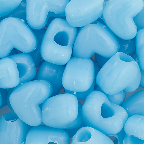 PONYBEAD HEART 10x12mm OPAQUE LIGHT BLUE image