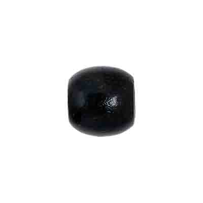 WOODEN BEADS OVAL 12x12MM BLK image