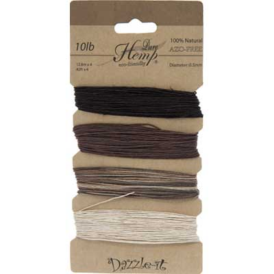 Hemp 100% Natural 0.5mm 10lb 4x41.9ft Natural Earthy Colours image