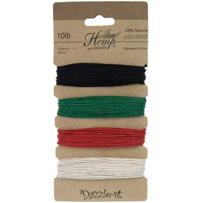Hemp 100% Natural 0.5mm 10lb 4x41.9ft Basic Colours image