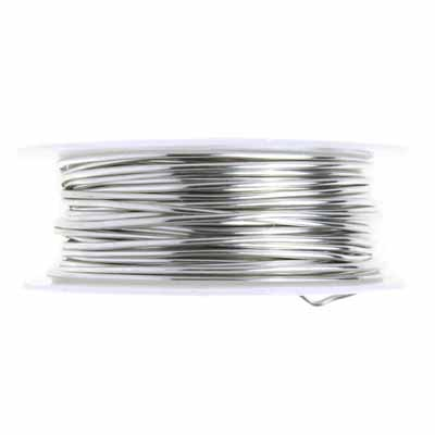 ART WIRE 18G Lead/Nickel SAFE TINNED COPPER PLATED SILVER image