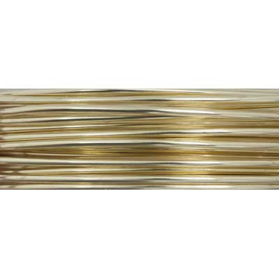 Art Wire 18ga Lead/Nickel SAFE Bare Yellow Brass Spool image