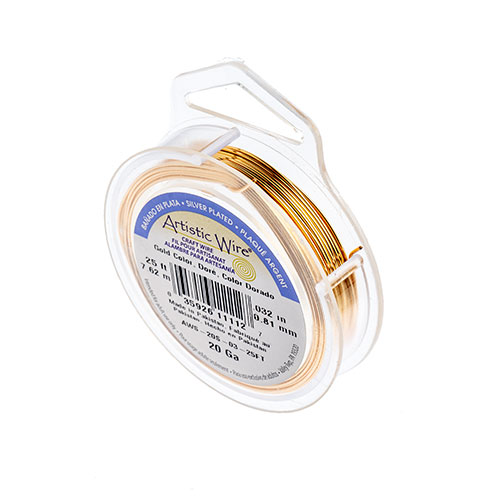 Silver Plated Wire 20ga Lead/Nickel Safe Gold image