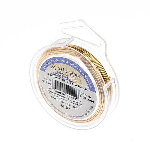 Silver Plated Wire 18ga Lead/Nickel Safe Gold image